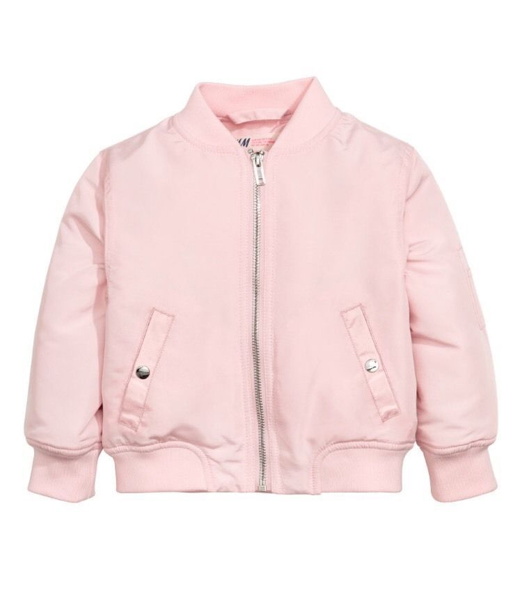 f1250e14c10 H M Girls Size 6 7 Pink Bomber Pilot Jacket | eBay | Gift ideas for ...