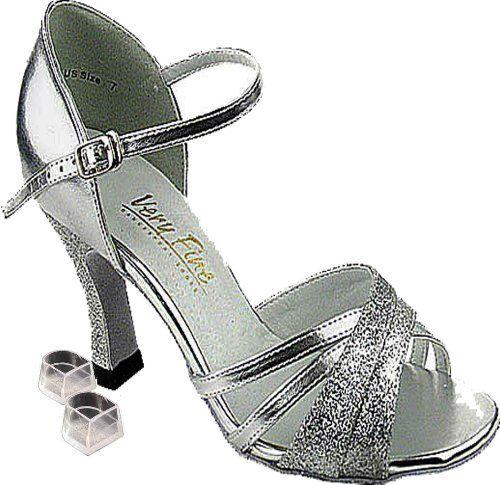 Women Silver Sandals Latin Tango Jazz Dance Shoes Comfort Competition Shoes