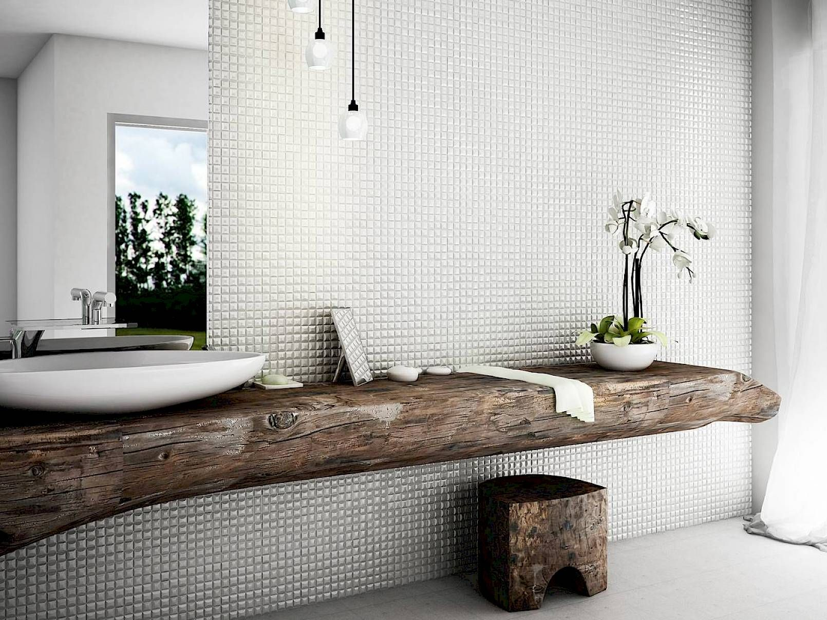 Edna | Mosaic | Glass | Centura | Centura collection | Salle de bain ...