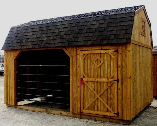 12x24 Horse Barn Run In Shed Shed Tack Room