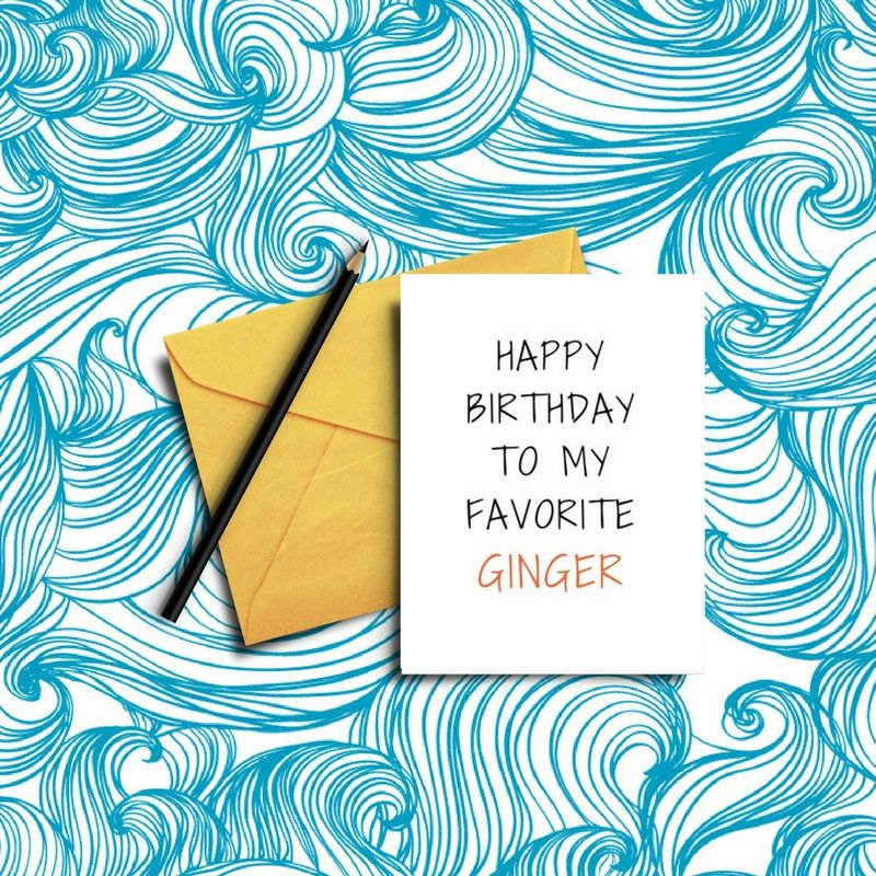 ac8306699cb Funny GINGER BIRTHDAY Card / Friends / Mates / Fun /Humour / Banter ...