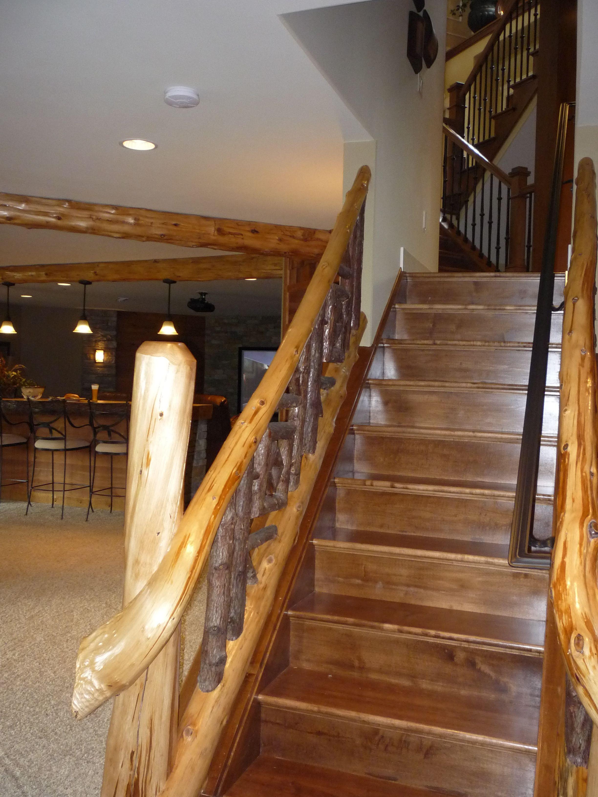 rustic railing | Cozy cabin, Home, Home decor