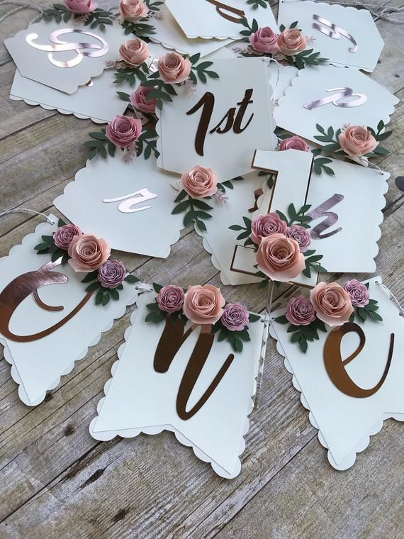 This listing is for an adorable boho chic floral high chair banner. It will add … – Emilias 1 Geburtstag