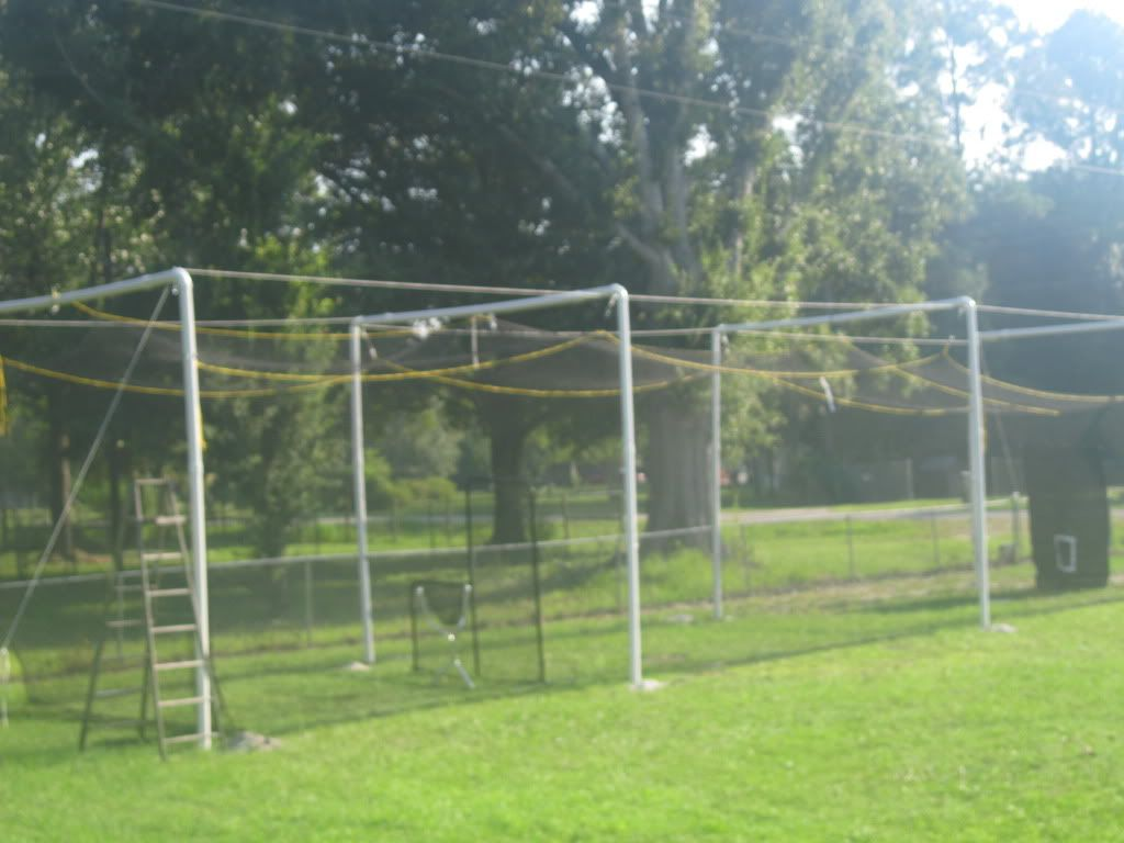 Diy backyd batting cage batting cages batting cage