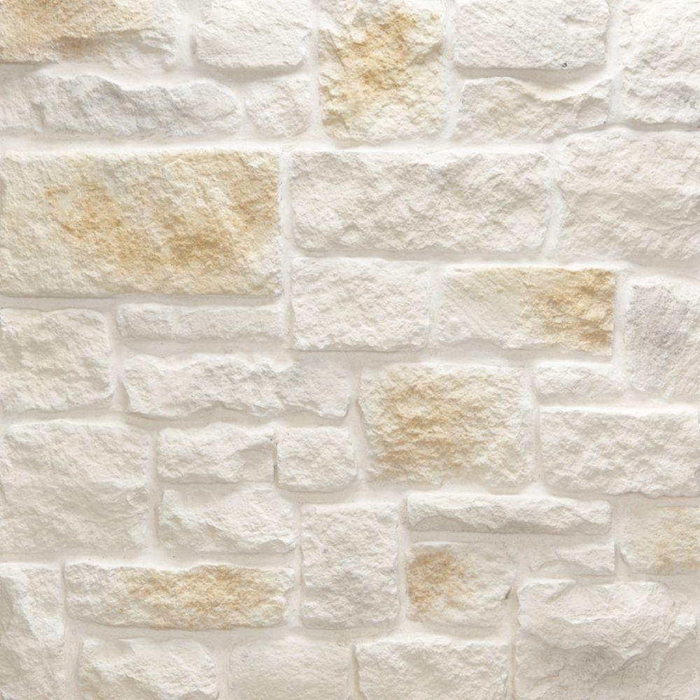 Veneerstone Austin Stone Bisque Flats 10 Sq Ft Handy Pack Manufactured Stone 97334 The Home Depot Manufactured Stone Austin Stone Stone Siding