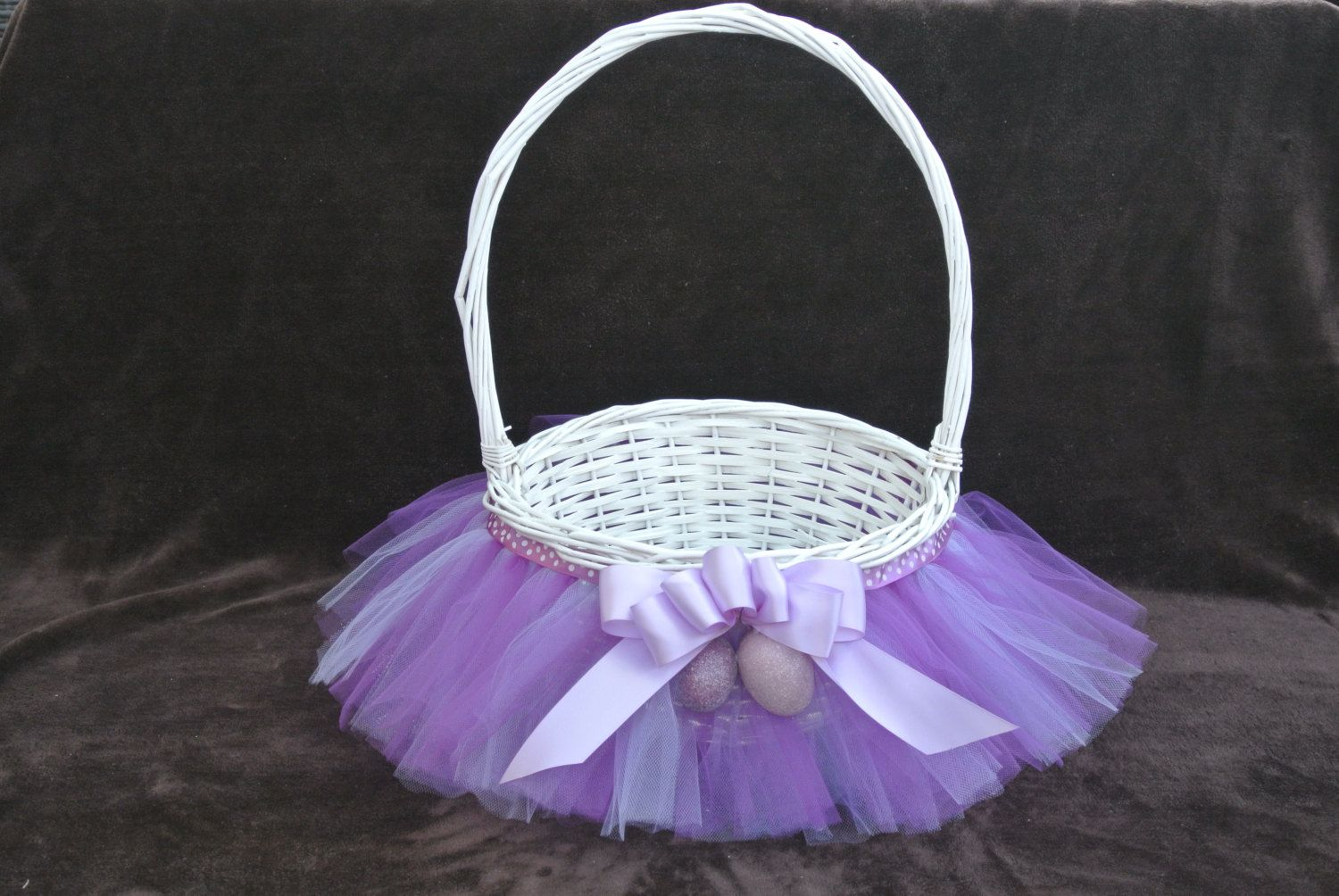 Purple tutu easter basket tutu gift basket tutu baby shower basket purple tutu easter basket tutu gift basket tutu baby shower basket wedding basket negle Choice Image