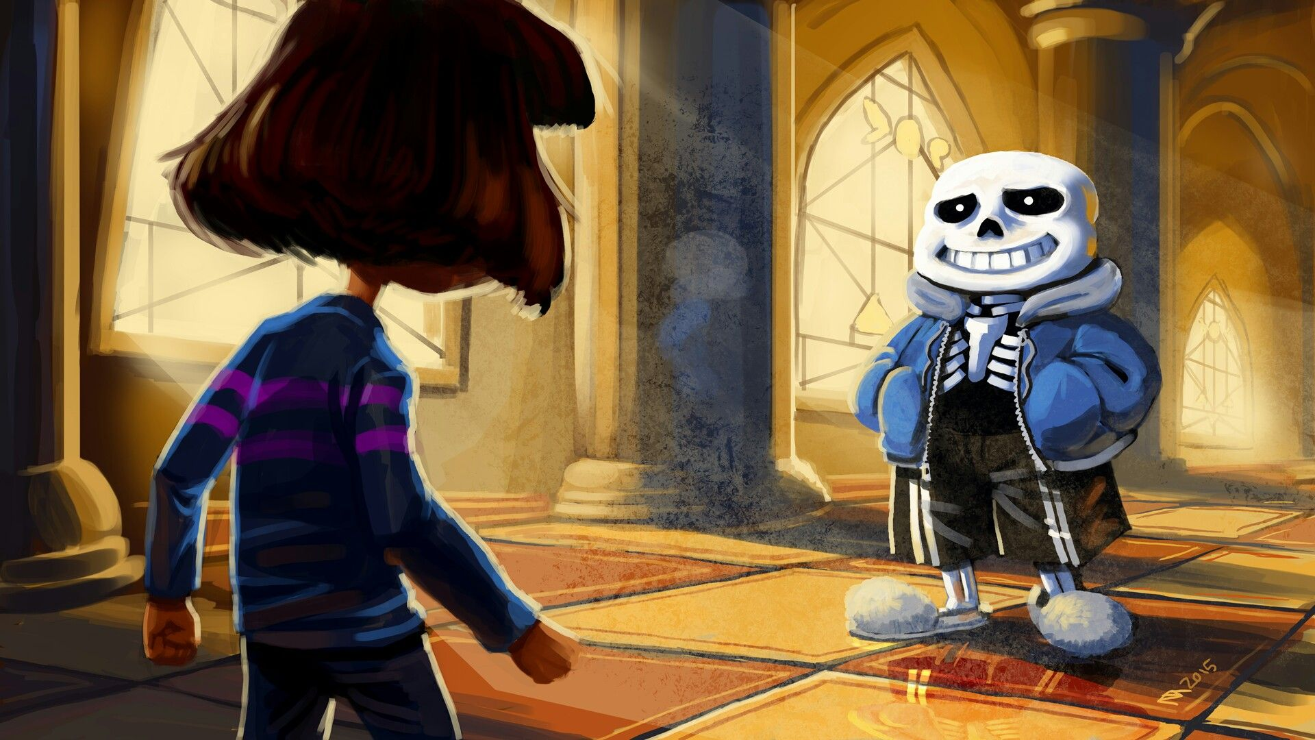 Frisk and Sans from Undertale by Toby Fox