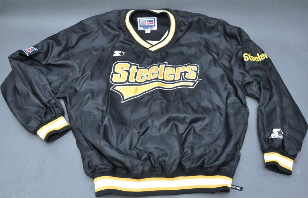 best service e8b7b dd2c6 Vintage 90s' Pittsburgh Steelers Starter NFL Pro Line ...