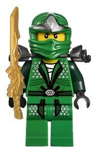 Lego Ninjago Green Ninja Lloyd Big Peel And Stick Reuseable Wall