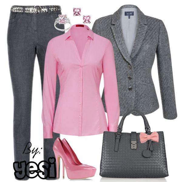brave outfit oficina gris en