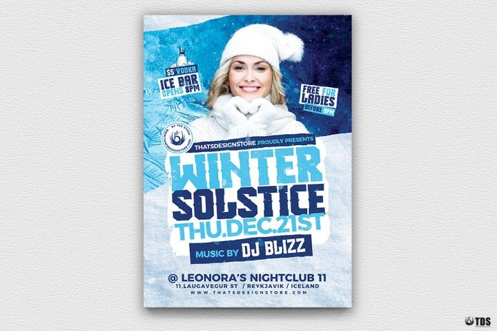 Winter Solstice Flyer Template V4 The Hungry JPEG The Hungry