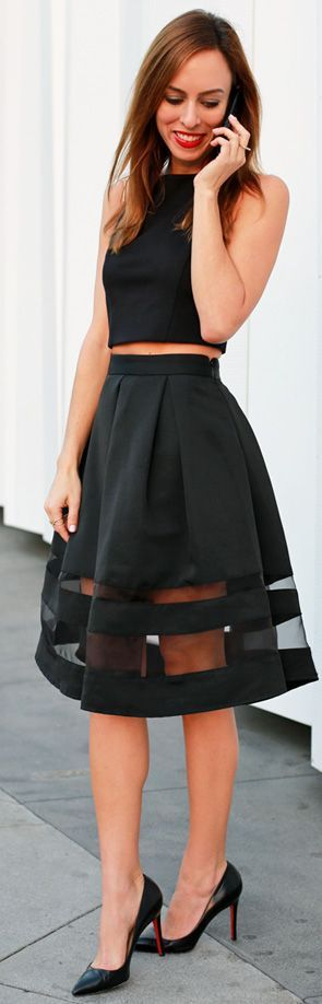 How cool is it that I have this top and skirt and wore it the exact same way a day before I saw this picture!