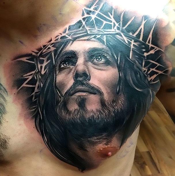Black Jesus Tattoo Idea Jesus Christ Tattoo Christ Tattoo Jesus Tattoo