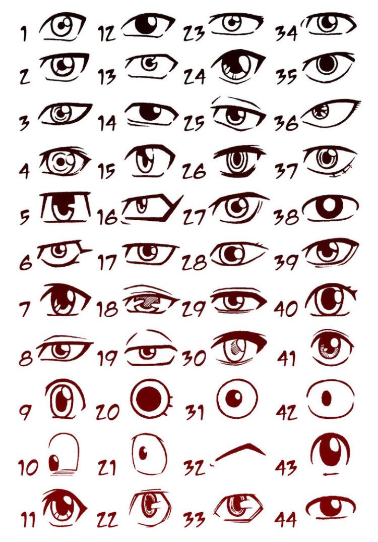 Comprehensive List Of Anime Eyes In 2020 Anime Eye Drawing Anime Drawings Boy Manga Eyes