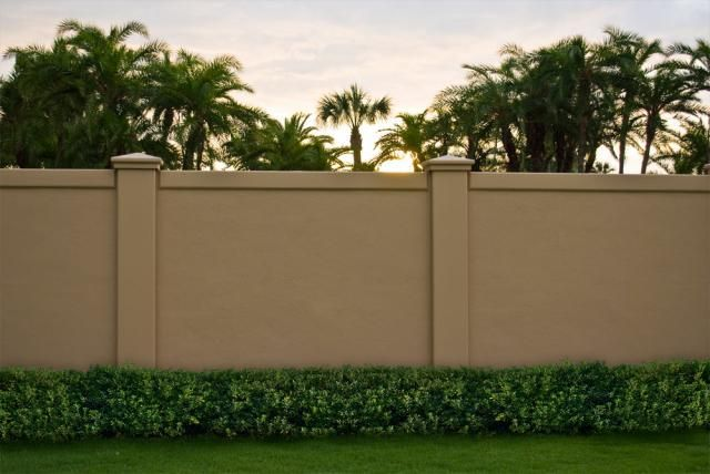 brick wall fence designs boundrwall 01 - Brick Wall Fence Designs