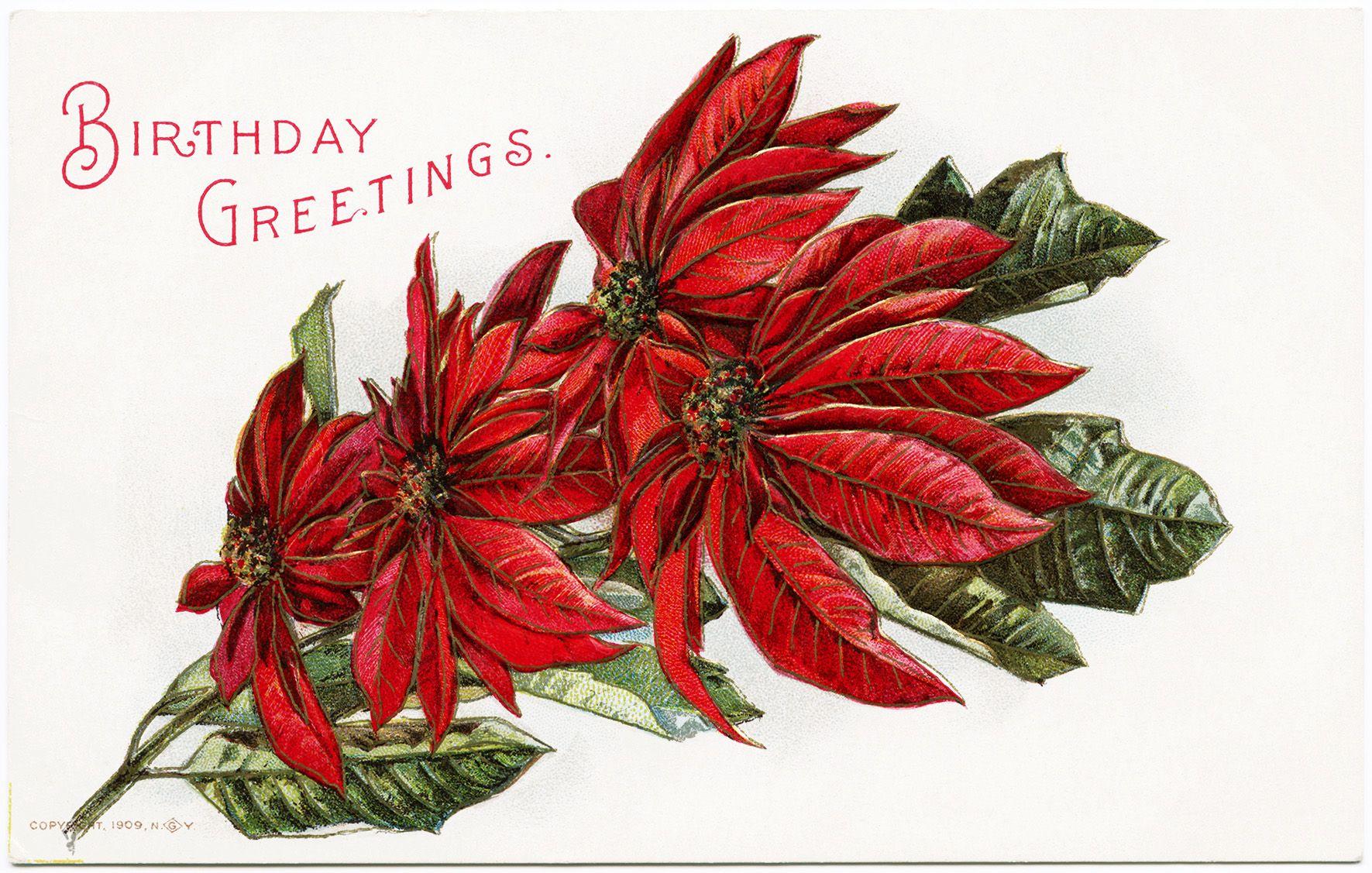 Vintage Birthday Cards Free For December Birthdays Vintage