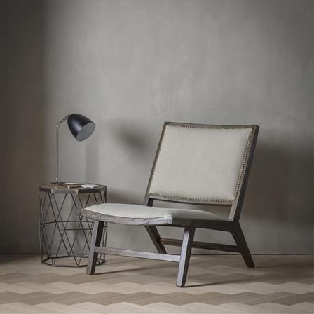 Carnaby Stone Washed Side Chair, Grey
