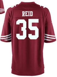 """$78.00--Eric Reid Jersey - Elite Red Home Nike Stitched San Francisco 49ers #35 Jersey,Free Shipping! Buy it now:click on the picture, than click on """"visit aliexpress.com"""" In the new page."""