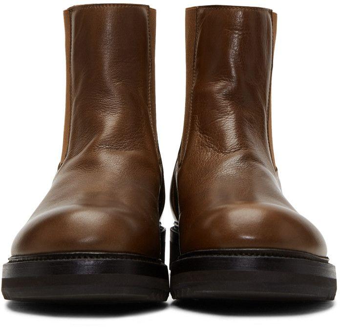 Vente Discount Sortie collections Rick Owens Brown Creeper Elastic Boots NNZQo