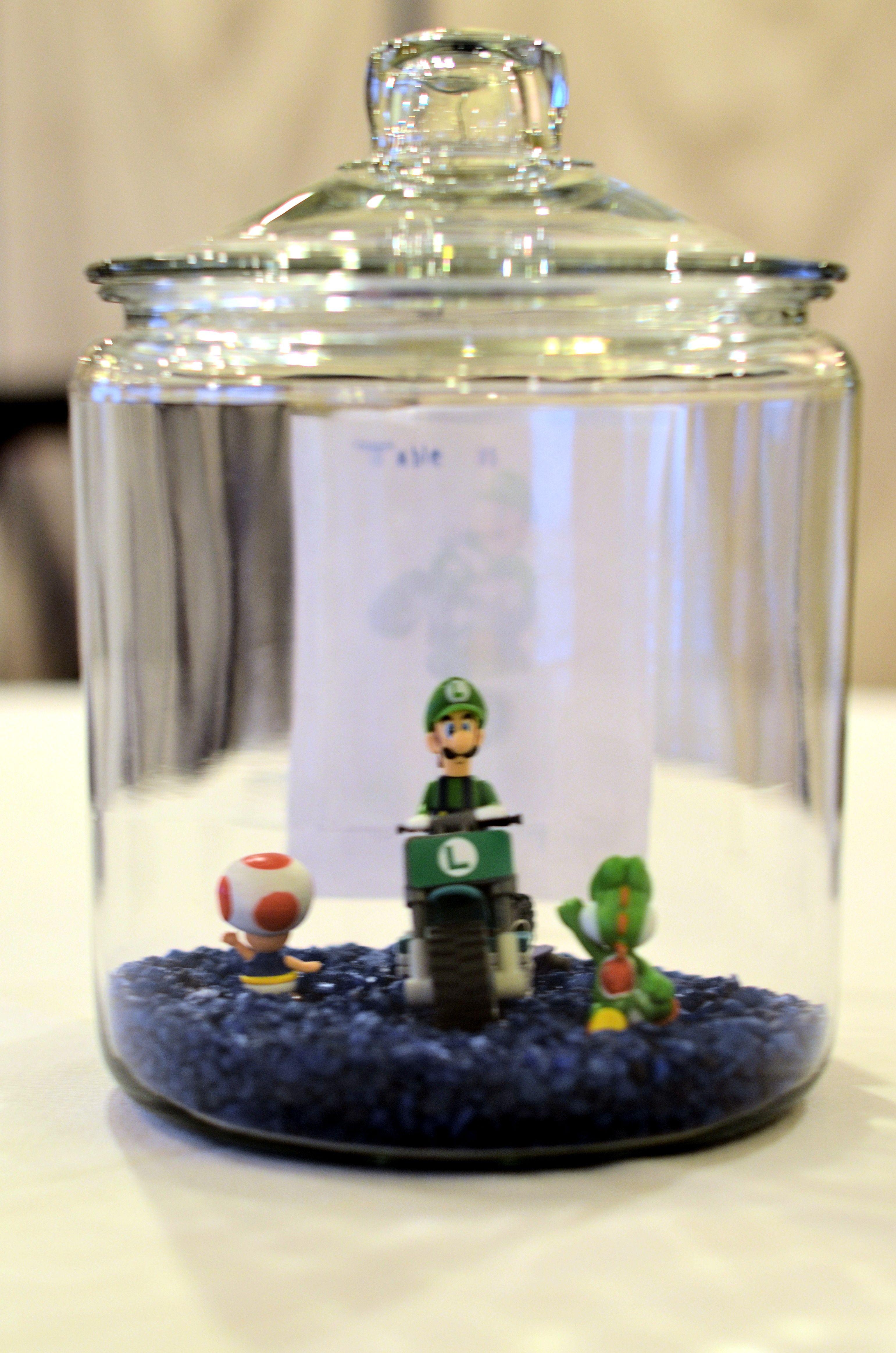 Luigi centerpiece | My Lego/Video Game Wedding | Pinterest | Luigi ...