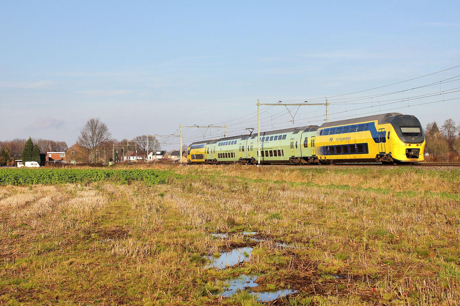 NSR 9556 als IC 841 bij Nieuwstadt. 14 December 2014