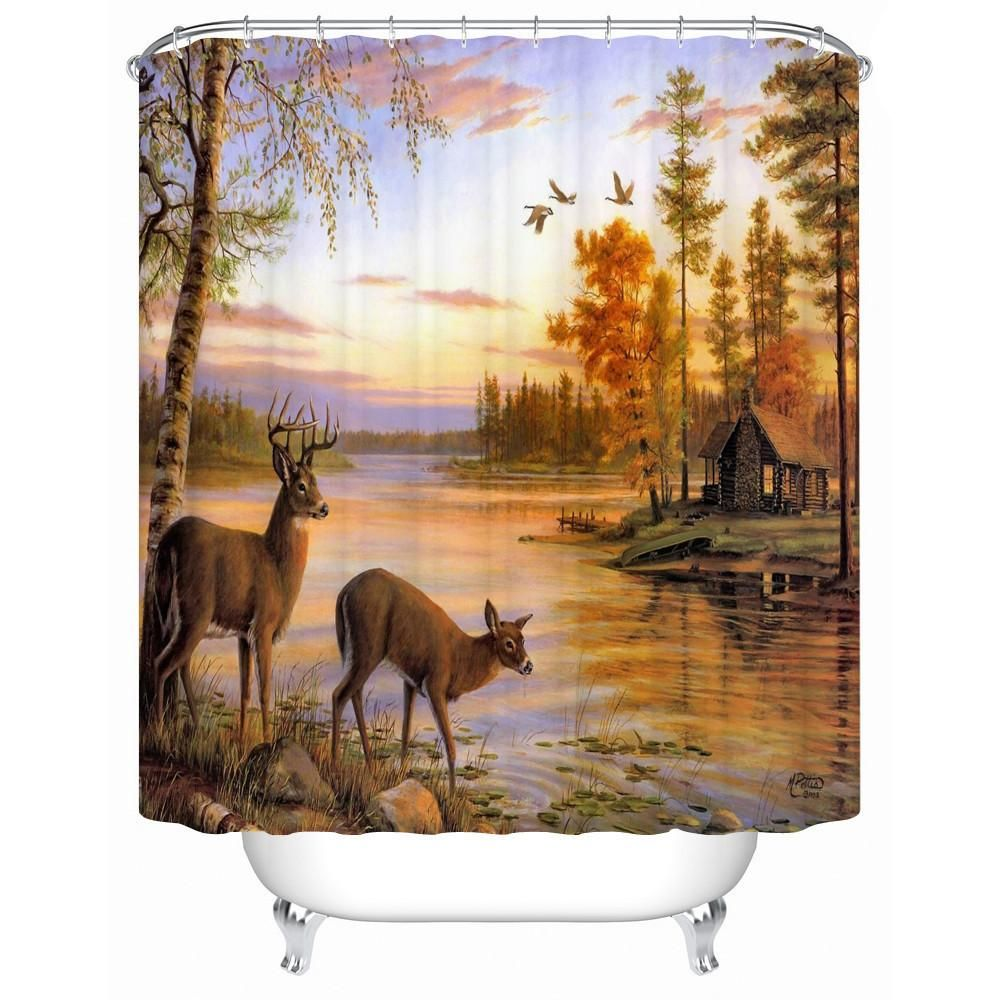 shower curtain shower environmentally friendly. New Waterproof Shower Curtain Bathroom Colored Horse Eco-Frien Environmentally Friendly O