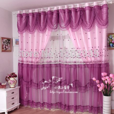Living Room Curtains Swag Purple | European-style-garden-wedding ...