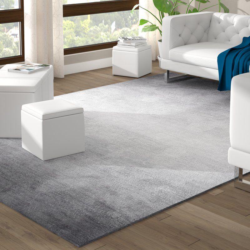 Deskins Hand Tufted Gray Area Rug Living Room Carpet Rugs On Carpet Grey Area Rug #patterned #carpet #living #room