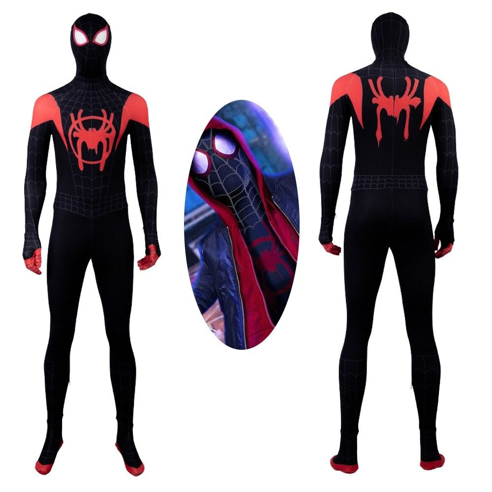 2018 Movie Spider-Man Into the Spider-Verse Miles Morales Cosplay T-Shirts Pants