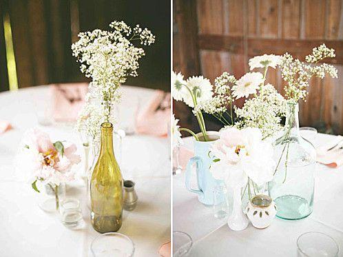centre de table fleurs des champs fete champetre. Black Bedroom Furniture Sets. Home Design Ideas