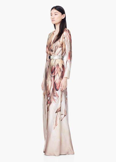 Lange jurk met print | MANGO