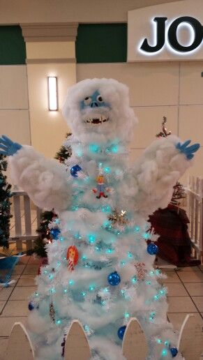The abominable snowman, SierraVista, AZ festival of trees So