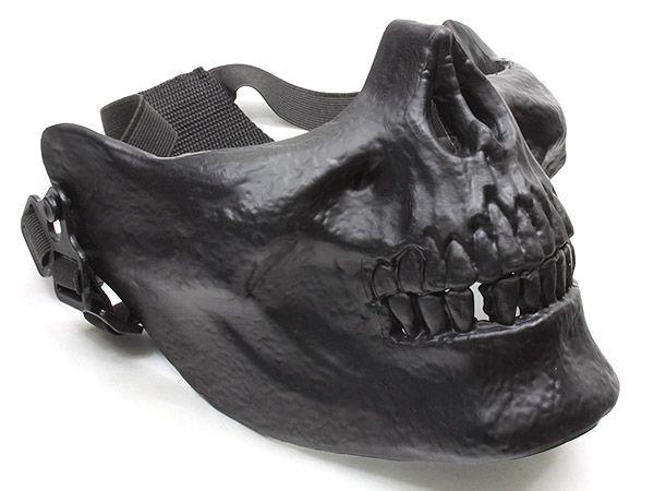 Halloween Biker Skull Face Evil Comic Villain Cosplay Latex Mask 1//2 Coverage