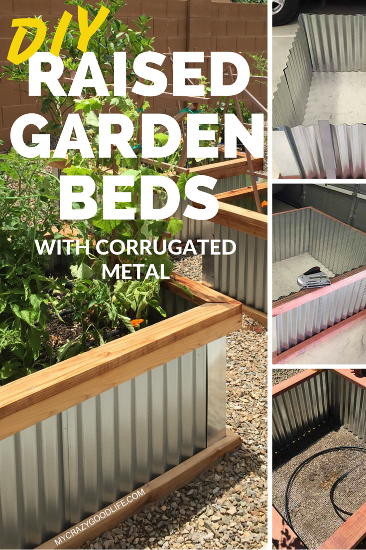 how to make corrugated garden bed