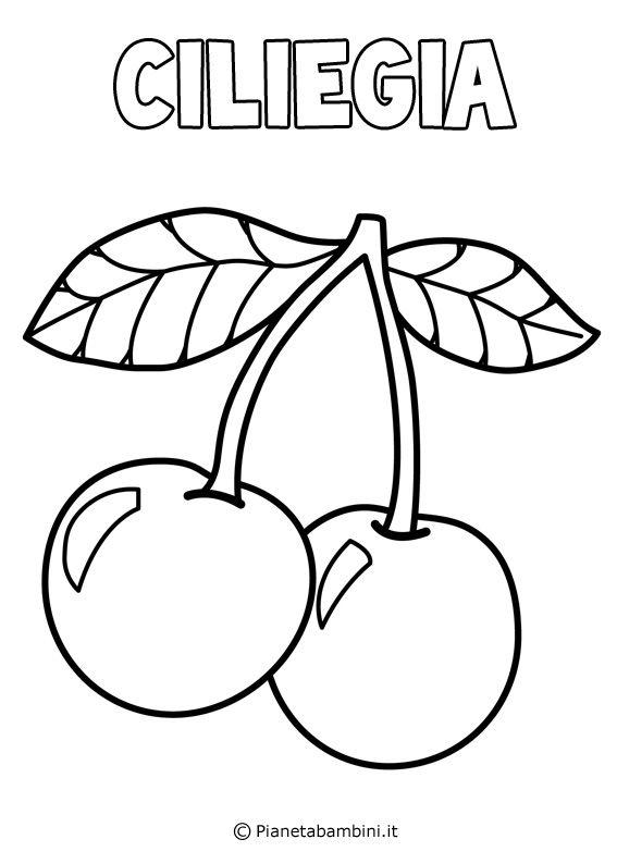 Disegni Di Frutta Da Stampare E Colorare Pianetabambini It Disegni Di Frutta Disegni Colori