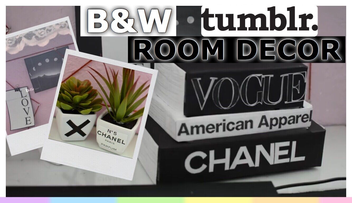 Diy Black White Tumblr Room Decor Easy Inexpensive Home