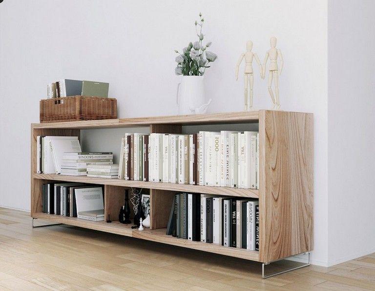 56 Stunning Modern Scandinavian Living Room Designs Bookshelves In Living Room Living Room Scandinavian Low Bookshelves