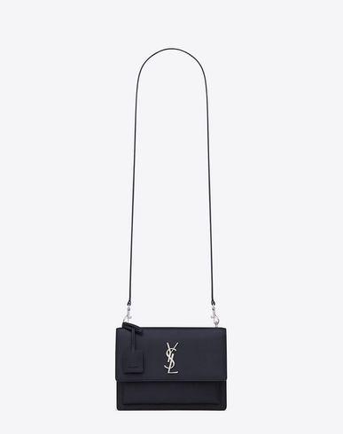 56f8c923943c SAINT LAURENT Medium Sunset Monogram Saint Laurent Bag In Navy Blue And  Black Grained Leather.  saintlaurent  bags  shoulder bags  leather
