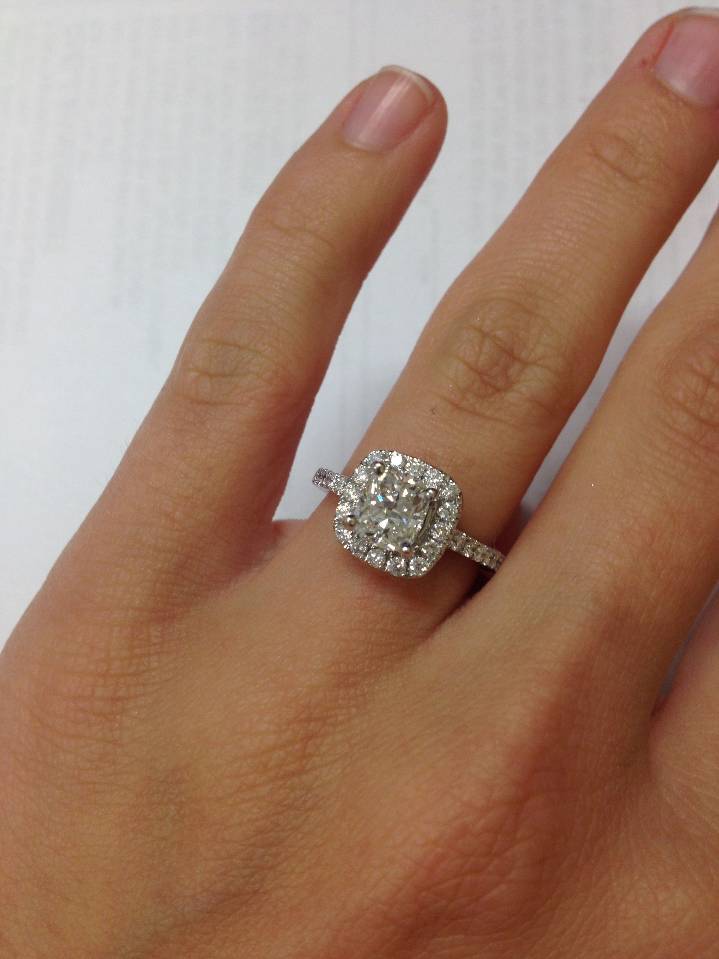 348ae5693f91 Cushion cut engagement ring!