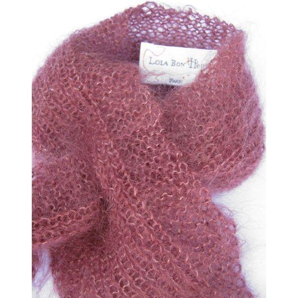 tricoter une echarpe en laine angora