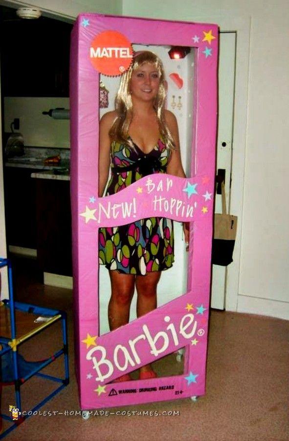 Bar Hopping Barbie in a Box Costume... Coolest Homemade Costumes  sc 1 st  Pinterest & Bar Hopping Barbie in a Box Costume   Pinterest   Homemade costumes ...