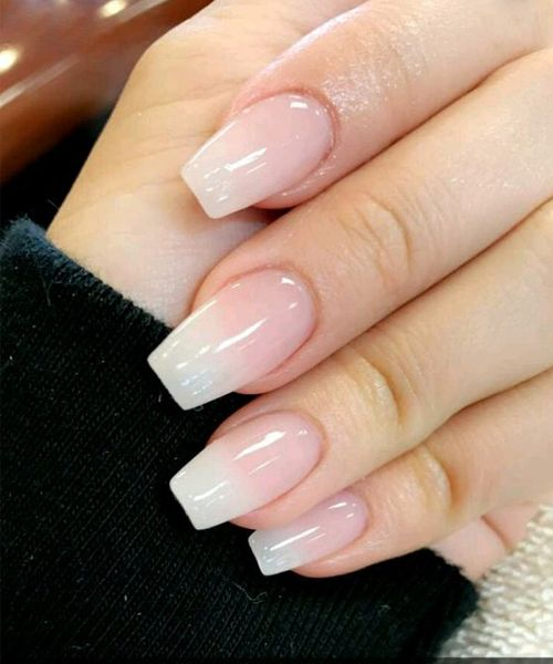 Ever Beautiful Pink Ombre Gel Nail Designs For Prom