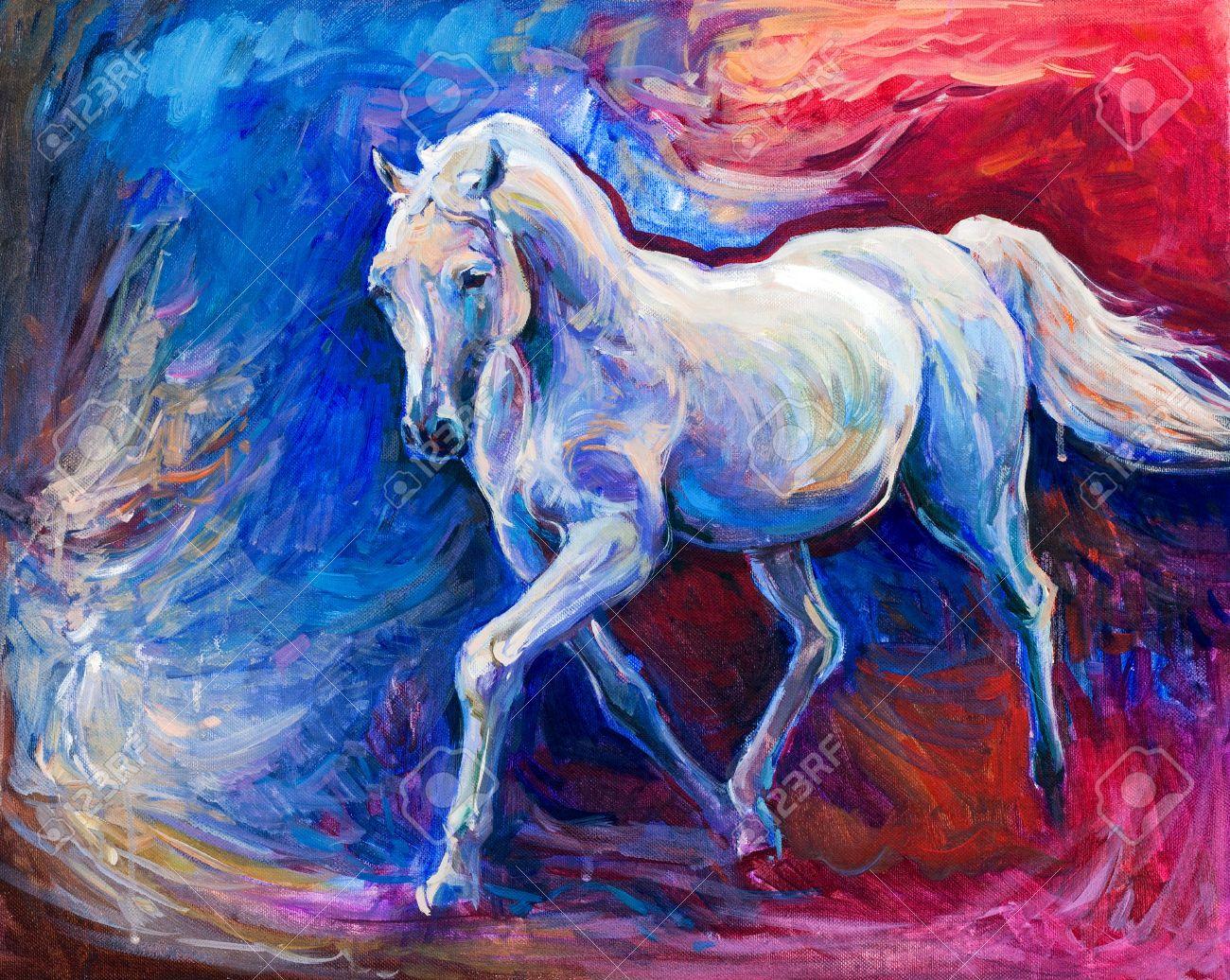 horse painting modern fine art - Google Search