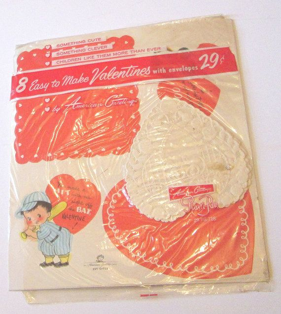 Old store stock unused american greetings kids childrens cats vintage american greetings valentines day cards m4hsunfo
