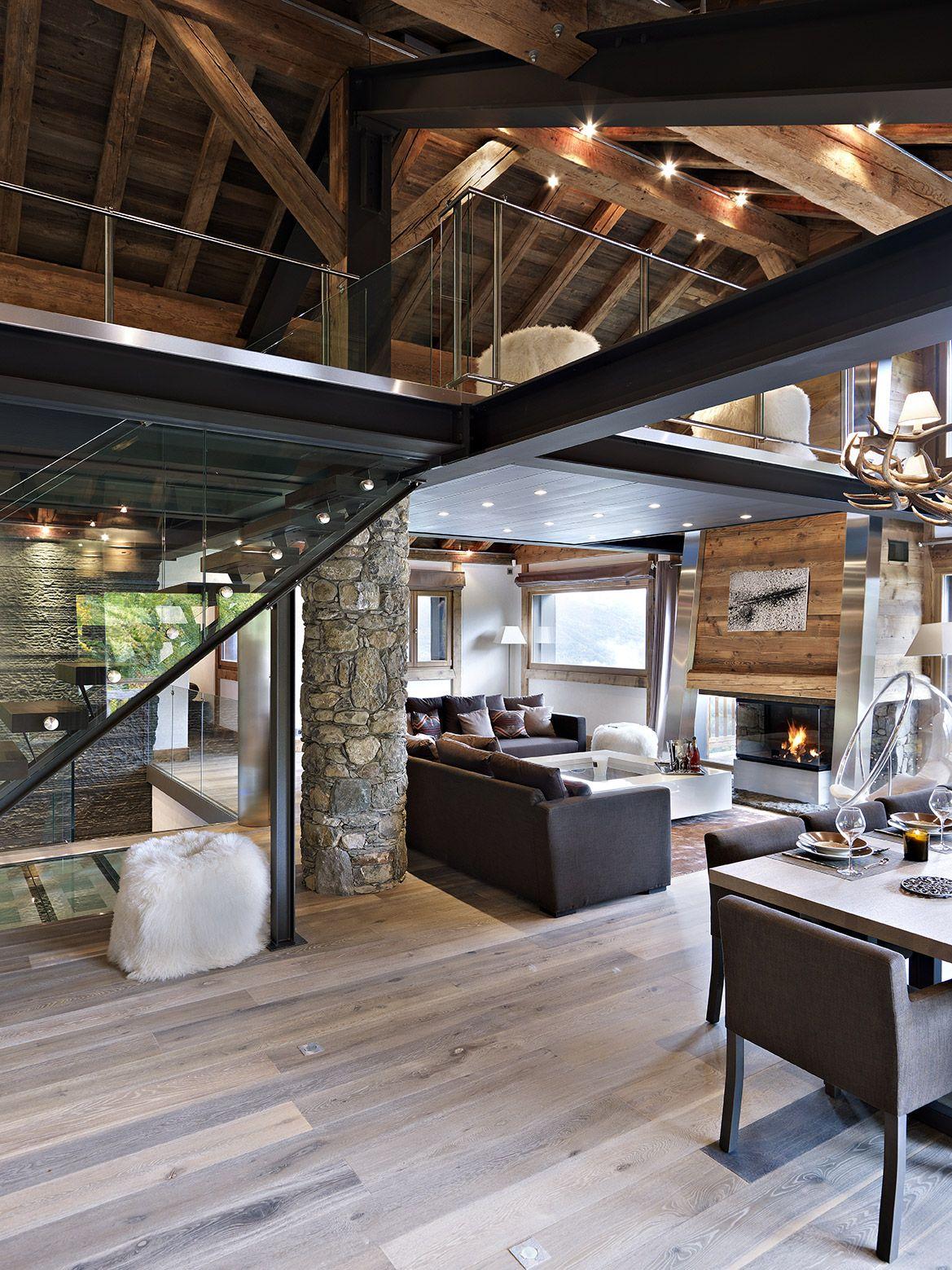 Dcoration dintrieur moderne pour un chalet de luxe  la montagne  Dream house in 2019