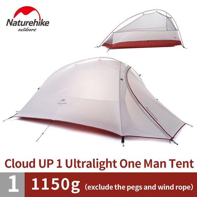Naturehike 1 Person Tent 20D Silicone or 210T Plaid FabricTent Double-layer C&ing Tent Lightweight  sc 1 st  Pinterest & Naturehike 1 Person Tent 20D Silicone or 210T Plaid FabricTent ...
