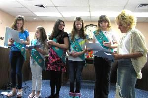 Six Girls from Scout troop 7324 are responsible for collecting 27,187 books for Paterson's Northside Library. Kudos