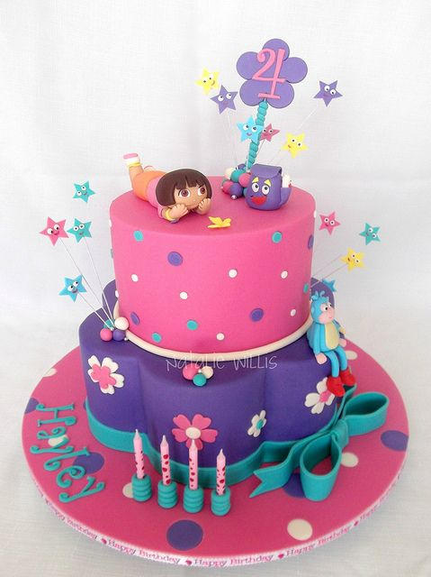 Amazing Hayleys Dora Cake With Images Dora Cake Dora Birthday Cake Funny Birthday Cards Online Alyptdamsfinfo