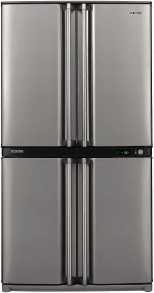 Sharp Sjf624stsl 624l French Door Refrigerator At The Good Guys French Door Refrigerator Fridge Appliances 4 Door Fridge