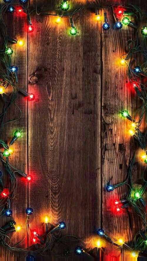 Cozy Christmas lights, nicely arranged for phone